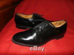 Church's' Custom Grade Black Plain Toe Derby Shoes Oxford Handmade England 9 D