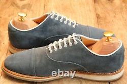Church's Custom Grade Blue Suede Oxford Shoes Men's UK 6.5 F US 7.5 EU 40.5