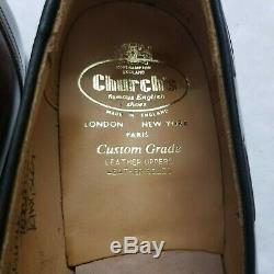 Church's Custom Grade Brown Calf Leather Tassel Loafers Slip-on Shoes UK 10.5 C