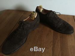 Church's Custom Grade Brown Suede Brogues UK 8 US 9 EU 42 + Church's Shoe Trees