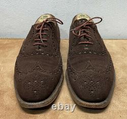 Church's Custom Grade Cape Buck Suede Leather Brogue Shoes Mens 8.5