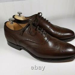 Church's Custom Grade Dark Brown Wingtip Shoes UK Size 8.0 G US Size 8.5 D