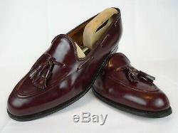 Church's Custom Grade Keats Burgundy Brown Tassel Loafers UK 9.5 F