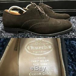 Church's Custom Grade Men's Brown Suede Berlin Brogues UK 8