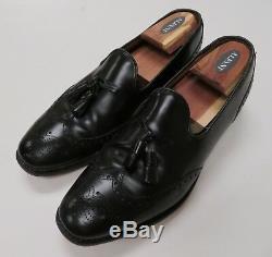 Church's Custom Grade Mens Tassel Wingtip Black Leather Loafers Size 10 D