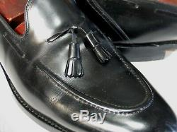 Church's Custom Grade Shoes 13B Black Tassel Loafers Bench Made in England