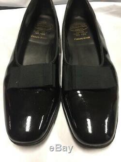 Church's Custom Grade Tuxedo Dress Shoes Vintage Size 11 D Black Metalic Good Co