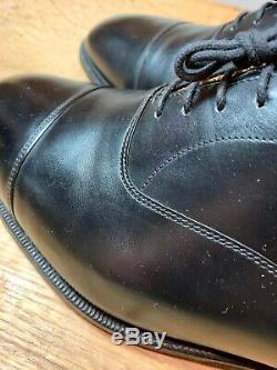 Church's Custom Grade black cap toe oxford, Canberra model, like Consul