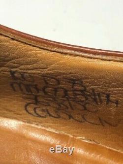 Church's England Consul Mens C/Grade Cognac Leather Cap Toe Oxfords 10/11 DB