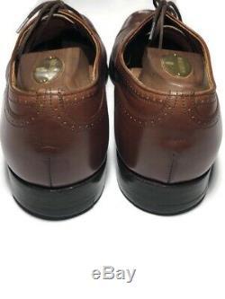 Church's England Mens Custom Grade Leather Cognac Cap Toe Brogue's 9.5 D