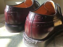 Church's Grafton II Derby size 9 brogue Custom Grade men's shoes burgundy