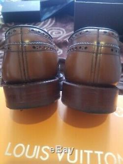 Church's Men BROWN leather Oxford Custom Grade Shoe Size UK 7 EU 41 VGC
