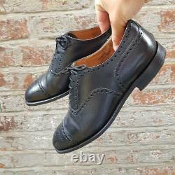 Church's Mens Black Diplomat Oxford Brogue Shoe Size 9 Lace Up Shoe Custom Grade