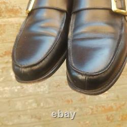 Church's Mens Caldbeck Black Slip On Shoe Size 9 F Buckle Moccasin Custom Grade