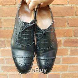 Church's Mens Diplomat Shoes Black Half Brogues 9 G Custom Grade Made England