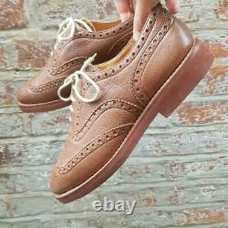 Church's Mens Downton Brown Chestnut Brogue Shoe 7.5 Lace Up Shoe Custom Grade