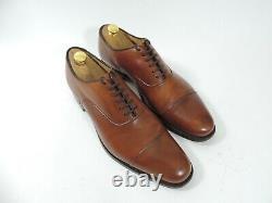 Church's Mens Shoes Custom Grade Tan Oxford Caps UK 10 US 11 EU 44 F Minor Use