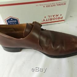 Church's monk strap 8.5 D 42.5 Brown leather Custom Grade buckle loafer