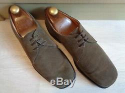 Church's vtg suede derby UK 9 43 brown double leather soles sq toe Custom Grade