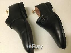 Churches Black Leather Custom Grade Monk Strap Shoes UK 11