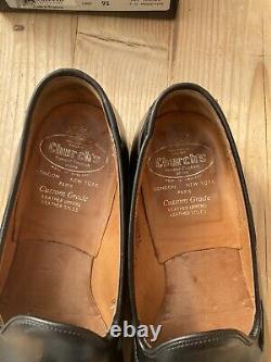 Churchs Alton Tassel Loafer Black Size 8 Uk Custom Grade