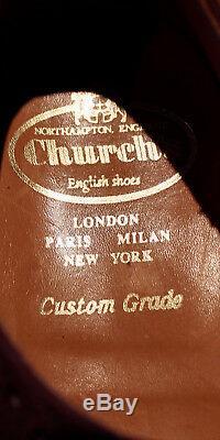 Churchs Buck Suede Brogue Shoes Mens Dark Brown Custom Grade UK 9B