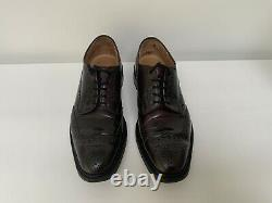 Churchs Custom Grade Deep Burgundy Leather Brogues (UK 9) Very Good Condition