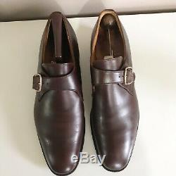 Churchs Mens Custom Grade Brown Leather Monk Strap Shoes Sz 10.5UK US11 Handmade