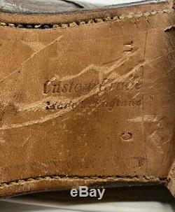 Churchs Wildebeest Leather Custom Grade Derby Plain Toe Shoes Brown UK 11 C