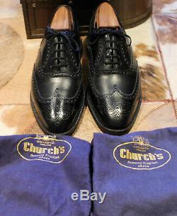 Churchs custom grade Henley black brogues UK 8.5 F