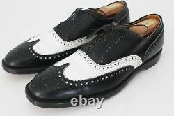 Cole Haan Imperial Grade Vintage RARE Spectator Wing Tip V-Cleat Shoes 11.5 B