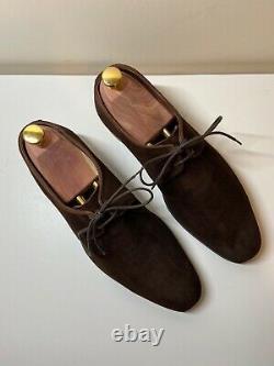 Crockett & Jones HAND GRADE STANLEY Brown Suede Lace Up Shoes UK 7 E