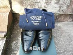 Crockett & Jones Hand Grade Brogues Black Uk 10 Rosemoor Excellent Cond