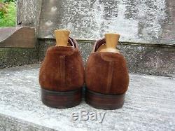 Crockett & Jones Hand Grade Brogues Brown / Tan Suede Uk 10.5 Ex. Condition