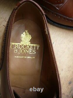 Crockett & Jones Hand Grade Brogues Brown / Tan Uk 11 Salisbury- Worn Once