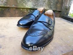 Crockett & Jones Hand Grade Butterfly Loafers Black Uk 11.5 Excellent Cond