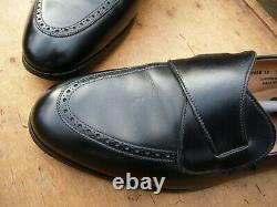 Crockett & Jones Hand Grade Butterfly Loafers Black Uk 12 Excellent Cond