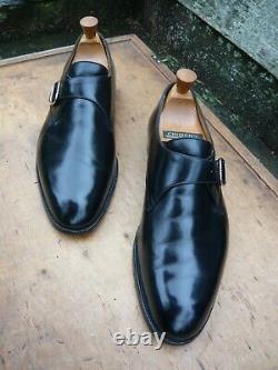 Crockett & Jones Hand Grade Monk Strap Black Uk 10.5 Very Good Condition