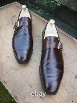 Crockett & Jones Hand Grade Monk Strap Brown Uk 9 Savile Excellent Cond