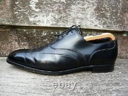 Crockett & Jones Hand Grade Oxford Black Uk 10 Tavistock Very Good Cond