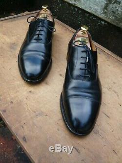 Crockett & Jones Hand Grade Oxford Black Uk 9 Excellent Condition