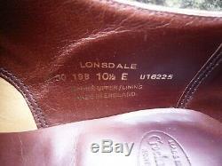 Crockett & Jones Hand Grade Oxford Brown Uk 10.5 Lonsdale Ex. Condition