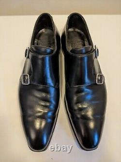 Crockett & Jones Hand Grade'Seymour 2' Double Monk Strap Black Shoes Size 8
