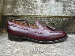 Crockett & Jones Hand Grade Tassel Loafers Brown / Burgundy Uk 9.5 Ex. Cond