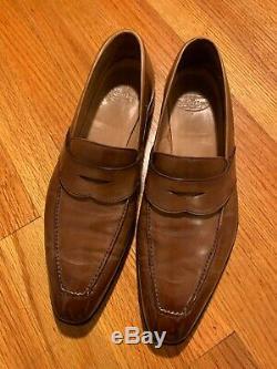 Crockett & Jones Kingston hand grade saddle loafer. Size US 9