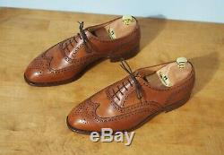 Crockett & Jones UK 8.5F US9.5 Hand Grade Downing Tan Wingtip Oxford Dress Shoes