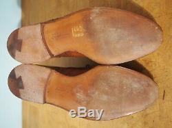 Crockett & Jones US 9.5 UK 8.5F Hand Grade Downing Tan Wingtip Oxfords Shoes