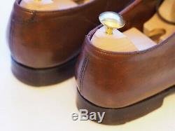 Crockett and Jones hand grade Audley brown antique calf leather oxfords 6 E