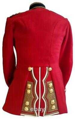 Genuine-Military RHQ Coldstream Guards Tunic Officer Captain Grade 1 -SS85