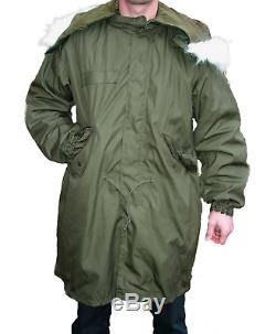 Genuine US Army M65 Fishtail Parka Jacket with Hood + Inner Liner Grade 1